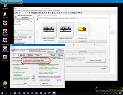 LawFirm® Enterprise - im Remotedesktop-Fenster (mobil, standortunabhängig)